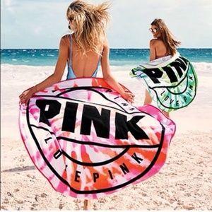 VS Pink Tie Dye Circle Towel